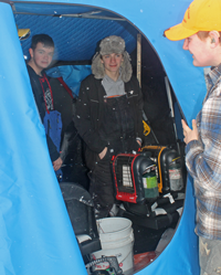 image of keewatin ice fishing outing